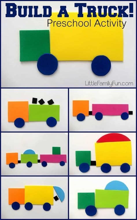 build  truck project  colorful craft foam pieces diy
