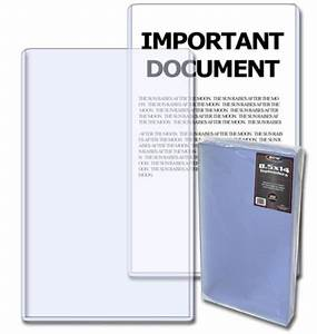 pack of 20 bcw 8 5 x 14 legal document photo hard plastic With document protectors hard plastic