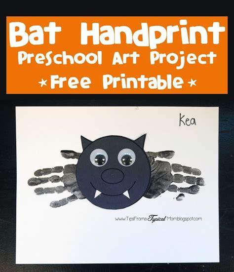 bat prints preschool activity amp free 224   bat handprints