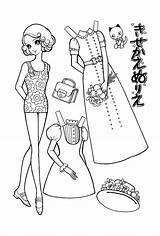 Paper Dolls Coloring Doll Bonequinhas Desenho Takahashi Makoto Goo Ne Jp Macoto Papel Desenhos Bonecos Brighten Weekend Colour Cut Animados sketch template