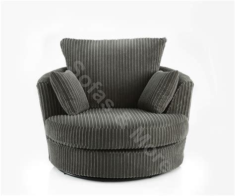 Swivel Cuddle Chair Grey large swivel cuddle chair jumbo cord fabric