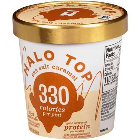 Halo Top Sea Salt Caramel 330 Calories Light Ice Cream ...