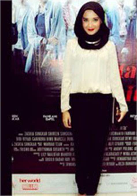 gaya hijab fashion ala zaskia sungkar tutorial hijab