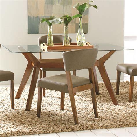 paxton rectangular glass dining table  coaster