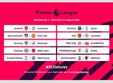 201617 Premier League fixtures released London Stadium