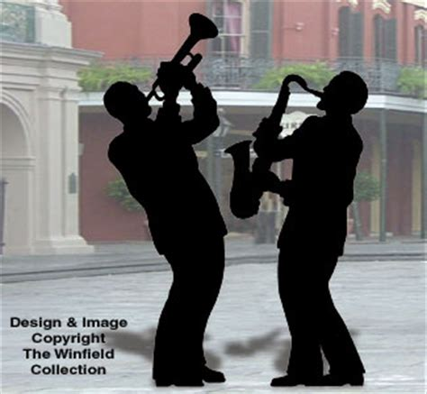 people sax  trumpet players shadow pattern