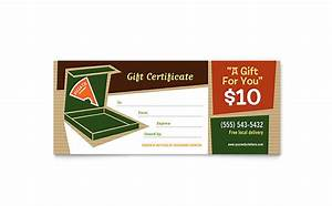 house cleaning gift certificate template - pizza pizzeria restaurant gift certificate template word