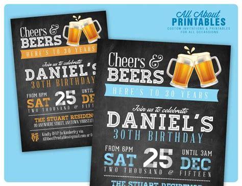 30th birthday invitation for Men Cheers & Beers invitation