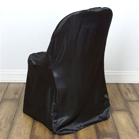 black satin folding chair cover efavormart