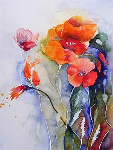 Aquarell Malen Blumen : mohn aquarelle bilder aquarelle vom meer mehr von ~ Articles-book.com Haus und Dekorationen