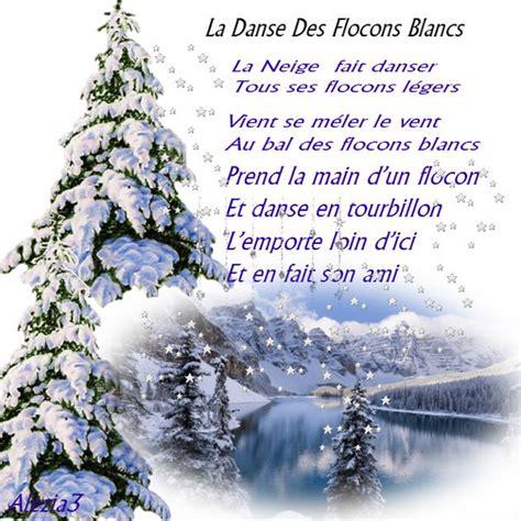 poeme la danse des flocons blancs