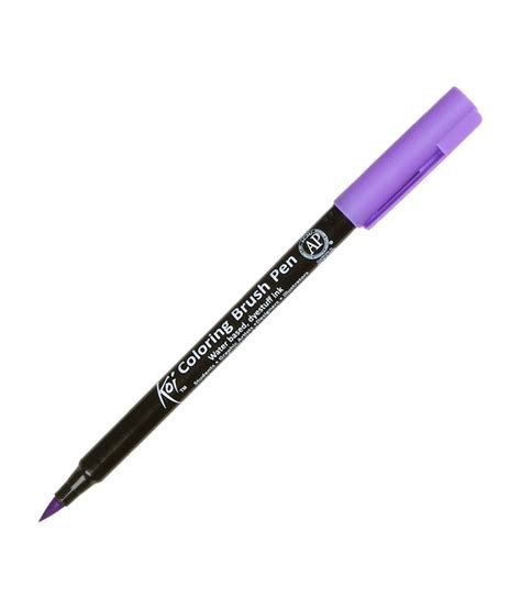 Coloring With Brush Pen by Koi Coloring Brush Pen Lavender Pack Of 3 Buy