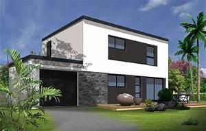 constructeur maison individuelle vannes avie home With superb plans de maison moderne 0 maison cubique jeu de volumes et couleurs vannes depreux