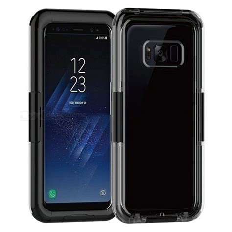 ip68 waterproof cover case for samsung galaxy s8 plus black free shipping dealextreme