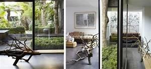 Baum Für Wohnzimmer : tolle bank aus einem gefallenen baum von benjamin graindorge ~ Markanthonyermac.com Haus und Dekorationen