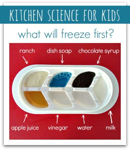 Kitchen Science Fair Experiments kitchen science for what will freeze 4 all