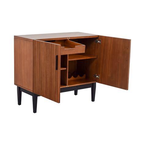 west elm flat bar storage desk 45 off west elm west elm wood bar cabinet storage