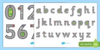 road themed letter  number formation display posters road
