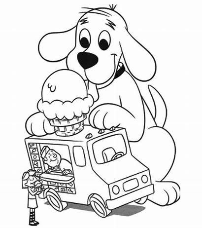 Ice Coloring Pages Printable Cream Dog Clifford