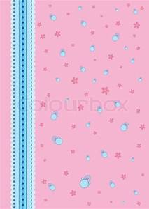 Baby background pink with a blue ribbon. | Vector | Colourbox