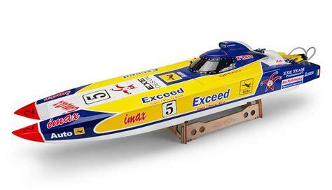 Rc Boats Gas by Exceed Racing Fibgerglass Imax Saga Catamaran 26cc Gas