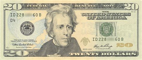 United States Twenty-dollar Bill