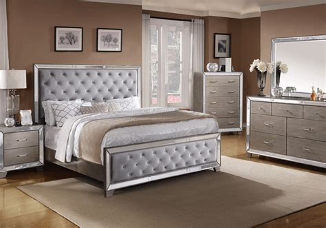 silver bedroom furniture sets cosette silver queen bedroom set evansville overstock 17062 | B7680 1
