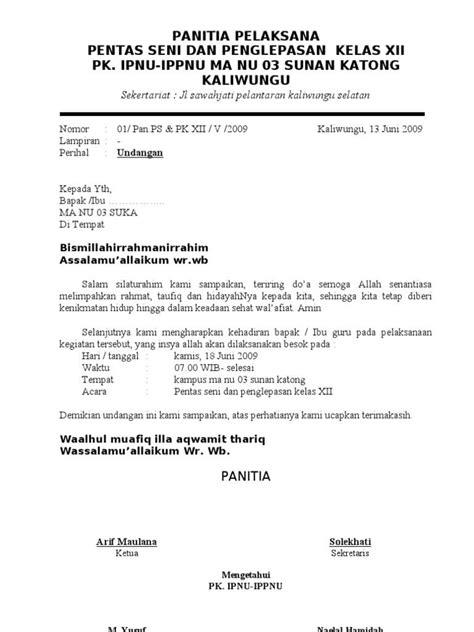 Contoh Surat Undangan Resmi by 21 Contoh Surat Undangan Resmi Tidak Resmi Rapat