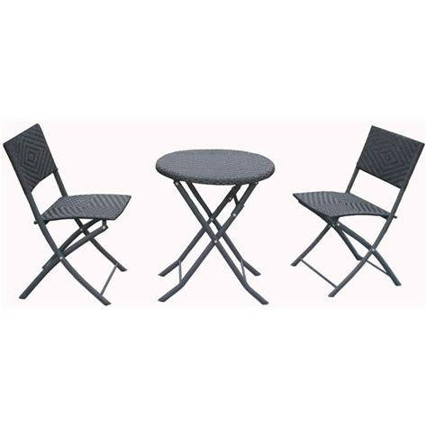 table et chaise pour balcon ensemble pour balcon en resine tressee avec table achat