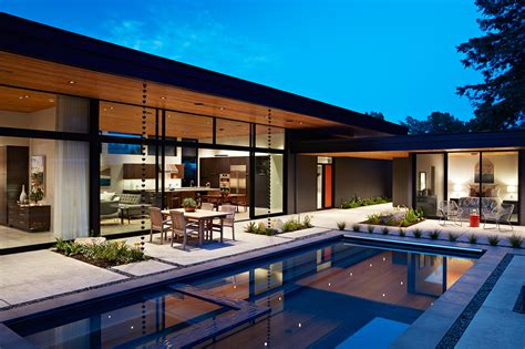 glass wall house  klopf architecture