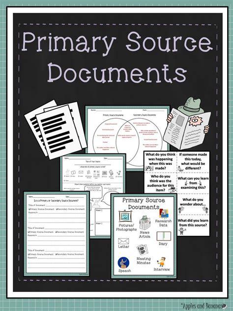 primary source documents activities  worksheets