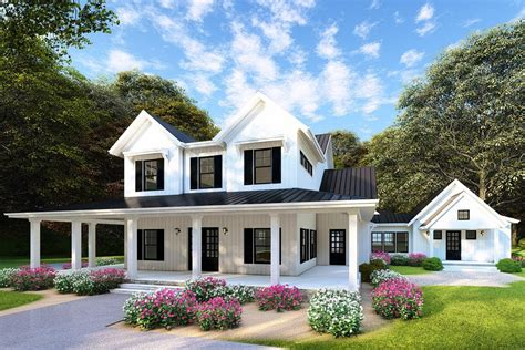 modern farmhouse plan 3 467 square feet 4 bedrooms 3 5 bathrooms 963 00154