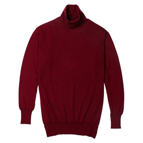 wine sweater turnbull asser turtleneck sweater in wine in