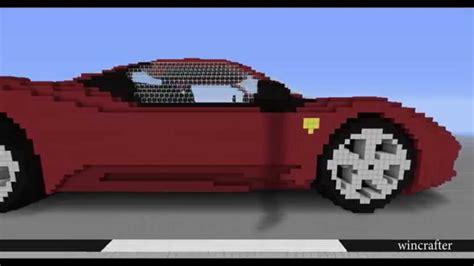 minecraft car minecraft car ferrari 458 youtube