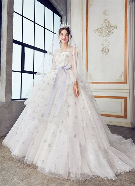 magical celestial wedding dresses  star crossed