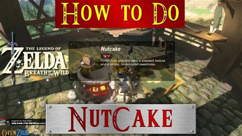 zelda botw     nutcake recipe breath