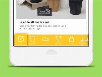 Bar Navigation Mobile Tab Animation Designs User