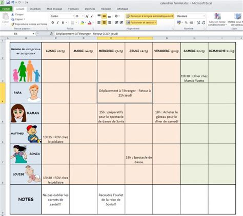 modèle fiche horaire salarié mod 232 le de calendrier familial d une famille pour windows