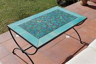 Outdoor Mosaic Tile Coffee Table