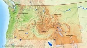 oregon maps with mountain ranges