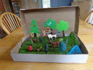 shoebox diorama  ideas guide patterns