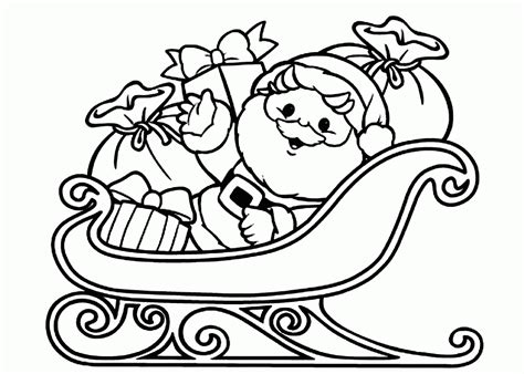 santa claus pictures to color santa sleigh coloring pages coloring home