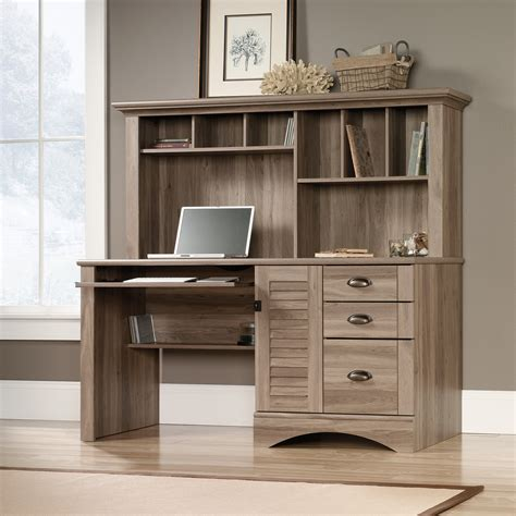 sauder harbor view computer desk with hutch harbor view computer desk with hutch 415109 sauder