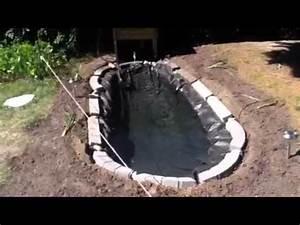Jardin Avec Bassin : mon bassin de jardin avec poisson hd youtube ~ Melissatoandfro.com Idées de Décoration