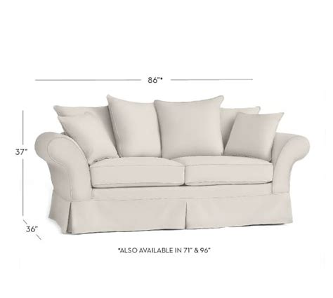 charleston sofa slipcover pottery barn charleston