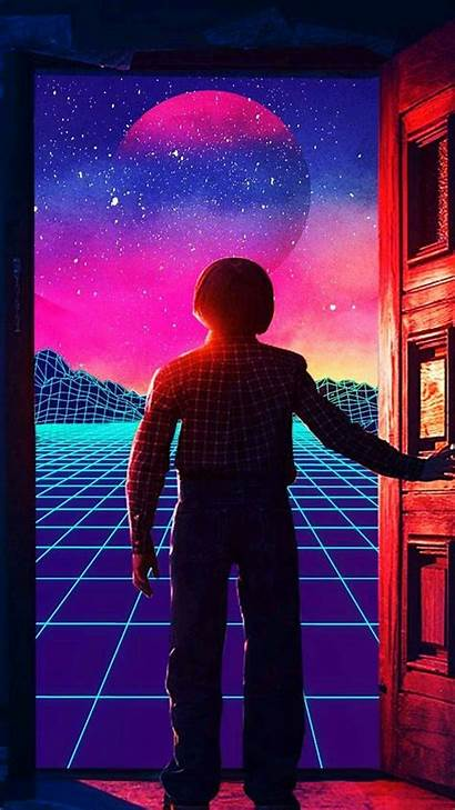 Aesthetic 80s Wallpapers Retro Neon Vaporwave Background