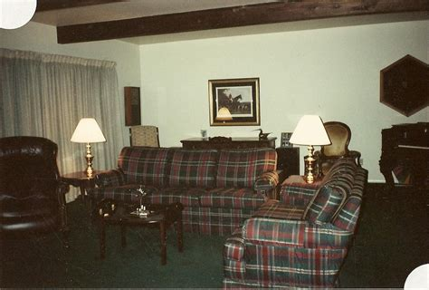 Home Interior 1980 : Using The Hand-drawn Plan, Furniture/accessories Were