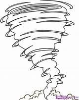 Hurricane Coloring Tornado sketch template