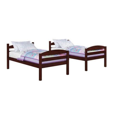 mainstays twin twin wood bunk bed walmart ca