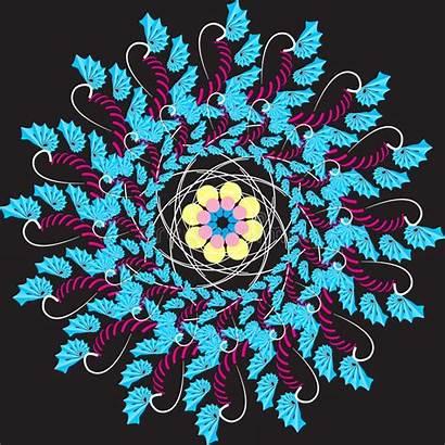 Fractals Vektorformat Fractales Muster Gemacht Stil Wird
